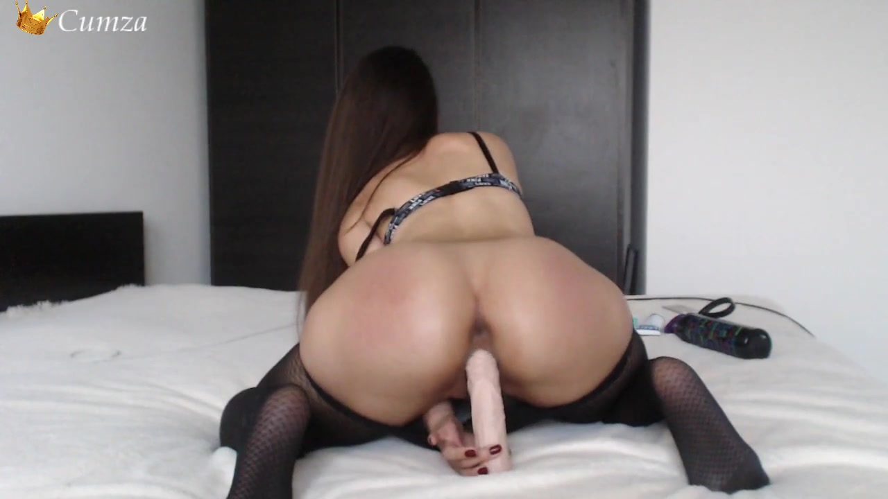 Camgirl Big Ass Riding Dildo