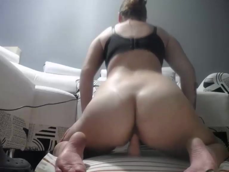 Big Bouncing Tits Riding Dildo